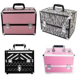 "14"" Pro Aluminum Makeup Train Case Travel Cosmetic Organizer"