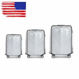 """18""""-30"""" Transparent Protective Luggage Suitcase Cover Case F"""