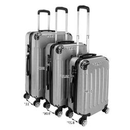 3-in-1 Portable ABS Trolley Case Luggage Travel Set Suitcase
