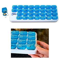 31 Day Monthly Pill Organizer Medication Pod Compartment Pla