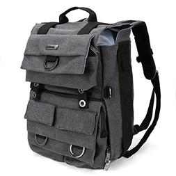 Camera Backpack, Evecase Canvas DSLR Camera Travel Backpack