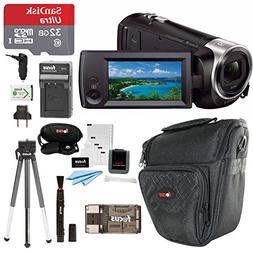 Sony HDR-CX405/B Handycam HD Camcorder w/ 32GB Deluxe Access
