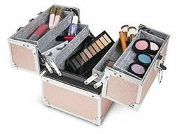 Caboodles Adored 4-tray Train Case, Includes Locking Latch w