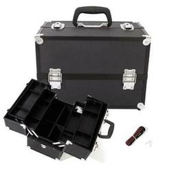 Aluminum Makeup Case Cosmetic Artist Train Travel Shoulder S