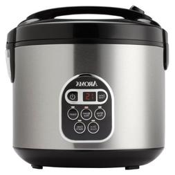Aroma 20-Cup  Digital Rice Cooker and Food Steamer, Stainles
