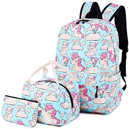 BLUBOON Backpack for School Girls Teens Bookbag Set Kids Sch