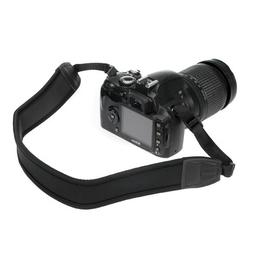 BIRUGEAR Black Soft Neoprene Camera Strap + Microfiber Clean