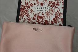GUCCI BLOOM BEAUTY peach pink makeup pouch cosmetic travel c