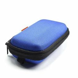 blue rectangle shaped portable protection