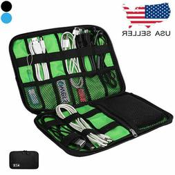 Cable Cord Organizer Electronics Accessories Travel Bag USB