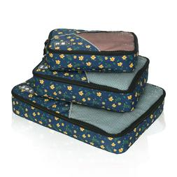 Classic Packing Cubes for Travel - 3pc Set Travel Luggage Pa