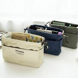Cosmetic Toiletry Travel Bag Canvas Women Make Up Organizer