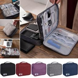 Electronics Accessories Organizer Travel Storage Hand Bag Ca