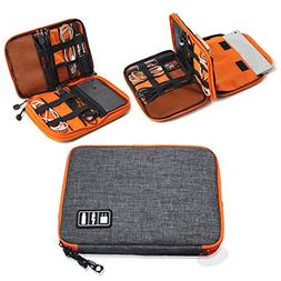 Elvoes Electronics Accessories Case, Waterproof Portable Cab