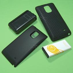Extended Battery TPU Case Cover Travel Charger f Samsung Gal