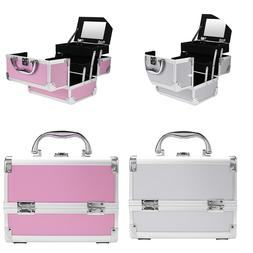 Fashion Makeup Travel Case Lockable Cosmetic Organizer Slidi