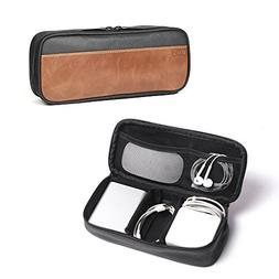 Dpark PU Leather & Canvas Universal Cable Organizer Electron