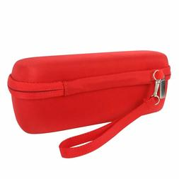 co2crea Hard Carrying Travel Case for Portable Speaker Red