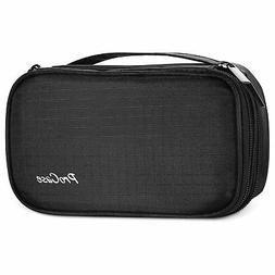 ProCase Jewelry Case Travel Organizer Bag, Soft Padded Doubl