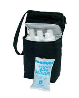 JL Childress 6 Baby bottle Cooler, includes reusable ice pac