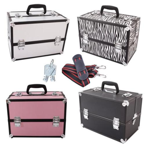 14 pro aluminum makeup train case travel