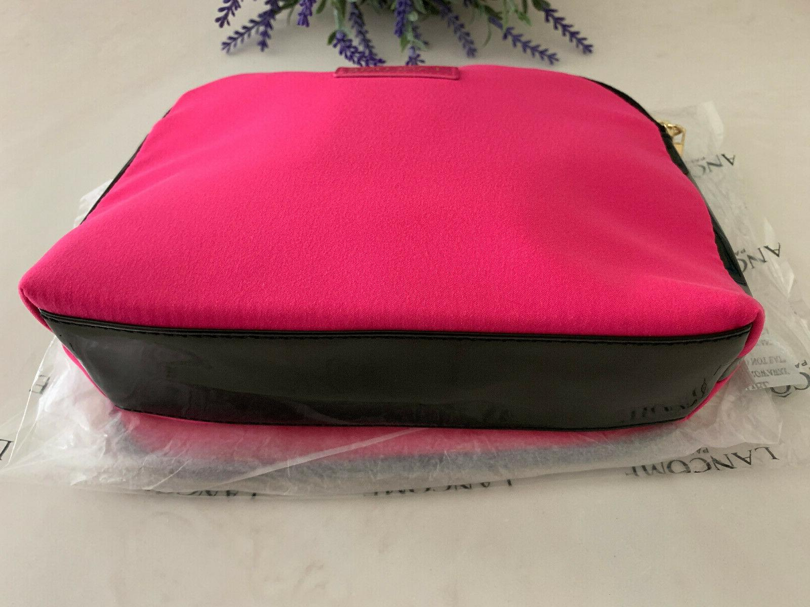 "2 Lancome Paris Cosmetic Bag Red & 6"" x"
