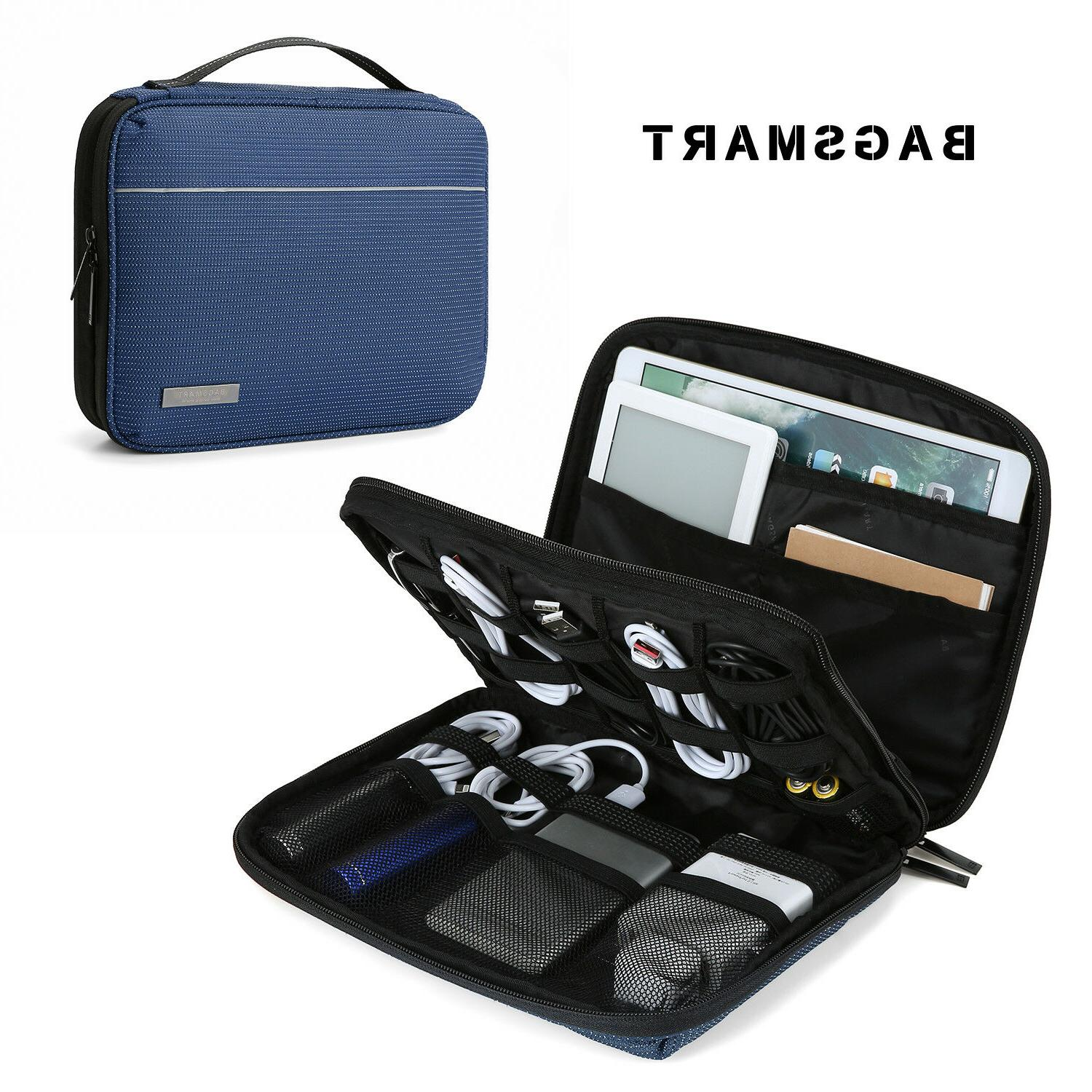 2 layer electronic accessories travel organizer cases