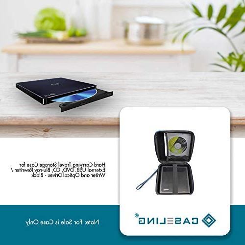 Caseling Portable Hard Travel External DVD, Blu-ray and Drives