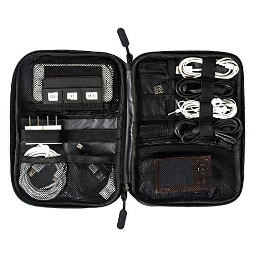 BAGSMART Organizer Electronics Accessories Cases For Charger and Black