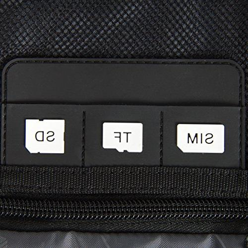 BAGSMART Universal Organizer For USB, Phone, Charger Cable, Black