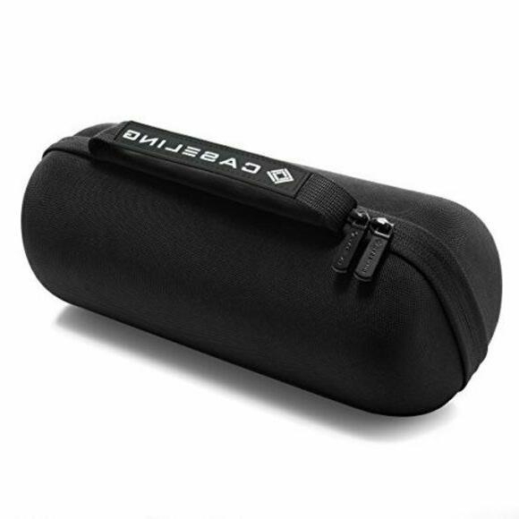 black speaker dual zip hardshell travel protective