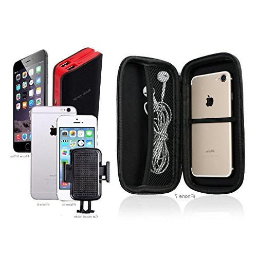 GLCON Case,Portable Protection External Battery,GPS,Hard Enclosure and Pouch
