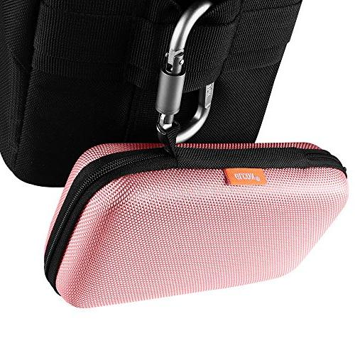 Case,Portable Hard Protection for External Drive,USB/Charging Pouch Bag,Pink