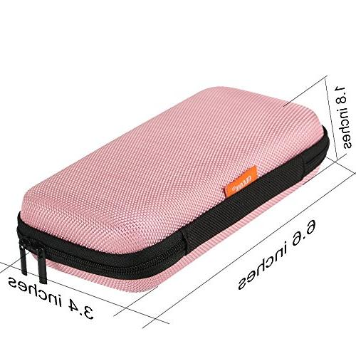 Case,Portable Hard EVA Protection for Drive,USB/Charging Enclosure and Durable Exterior,Travel Pouch Bag,Pink