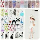 Clear Soft TPU Patterned Rubber Thin Protective Case Cover F