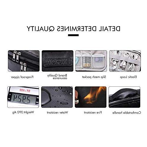Cord Organizer Water Resistant Layer for Accessories USB Cables Charger Power Kindle iPad Tablet 7.9