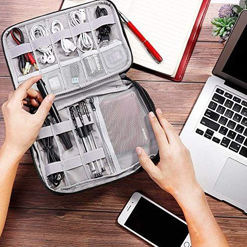 Cord Water Compact Layer Universal Bag for Accessories - USB Phone Charger Power iPad up 7.9