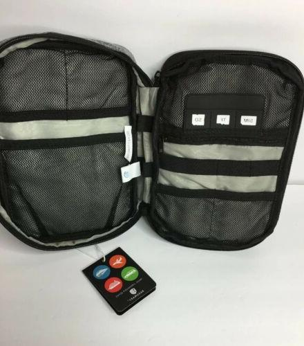 BAGSMART Double Layer Cable Organizer Electronics Gray
