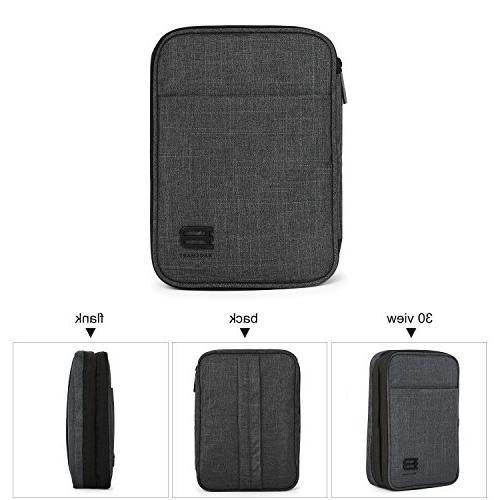 BAGSMART Double-Layer Organizer for Charger, Black