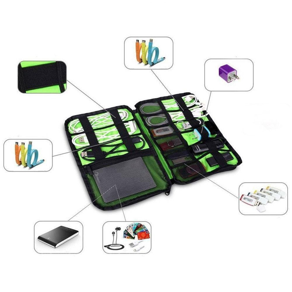 Electronic Accessories Cable Organizer Bag Travel USB Cord Charger