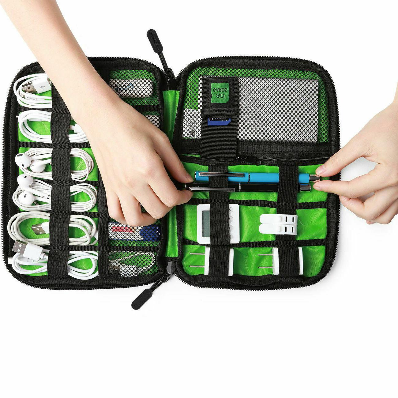 Electronic Cable Bag Travel USB Charger Storage