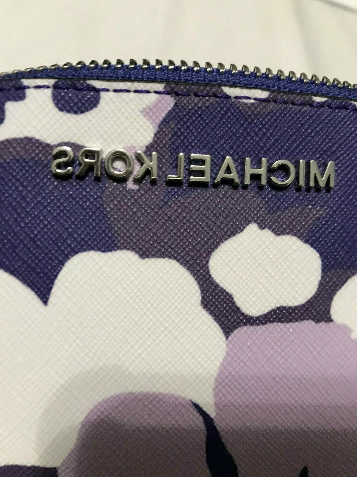 Michael Kors Jet Set Travel Pouch Cosmetic in Floral Saffiano $98