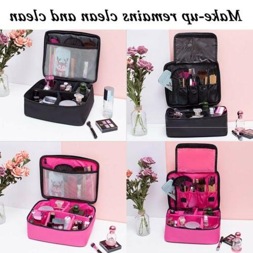 large makeup bag cosmetic case storage handle