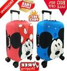 Minnie And Mickey Pattern Travel Suitcase Protective Cover E