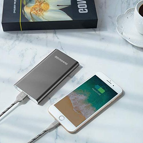 Portable Charger Phone External Battery Dual Compatible with iPhone X Plus Android Galaxy iPad LG -