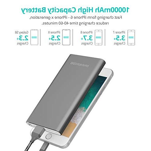 Portable Charger Phone Power Battery Pack Dual Input iPhone X XS XR 7 6 Plus iPad