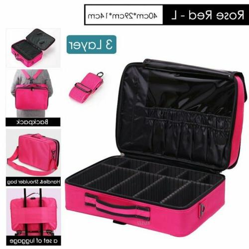 Professional Bag Cosmetic Case Handle Artist Travel Kit