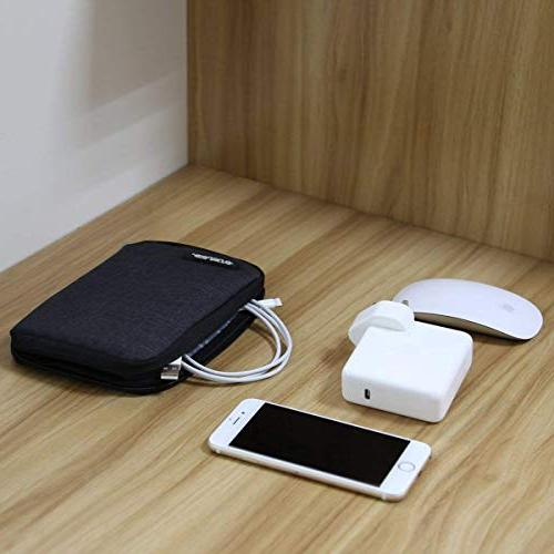 MOSISO Storage Bag MacBook Charger, Travel Electronics for Notebook Drive, Cable, Mouse, Charger,
