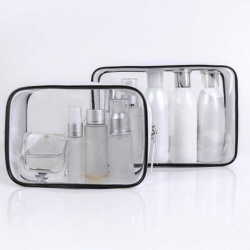 Transparent Cosmetic Case Clear Plastic PVC Travel unicorn M
