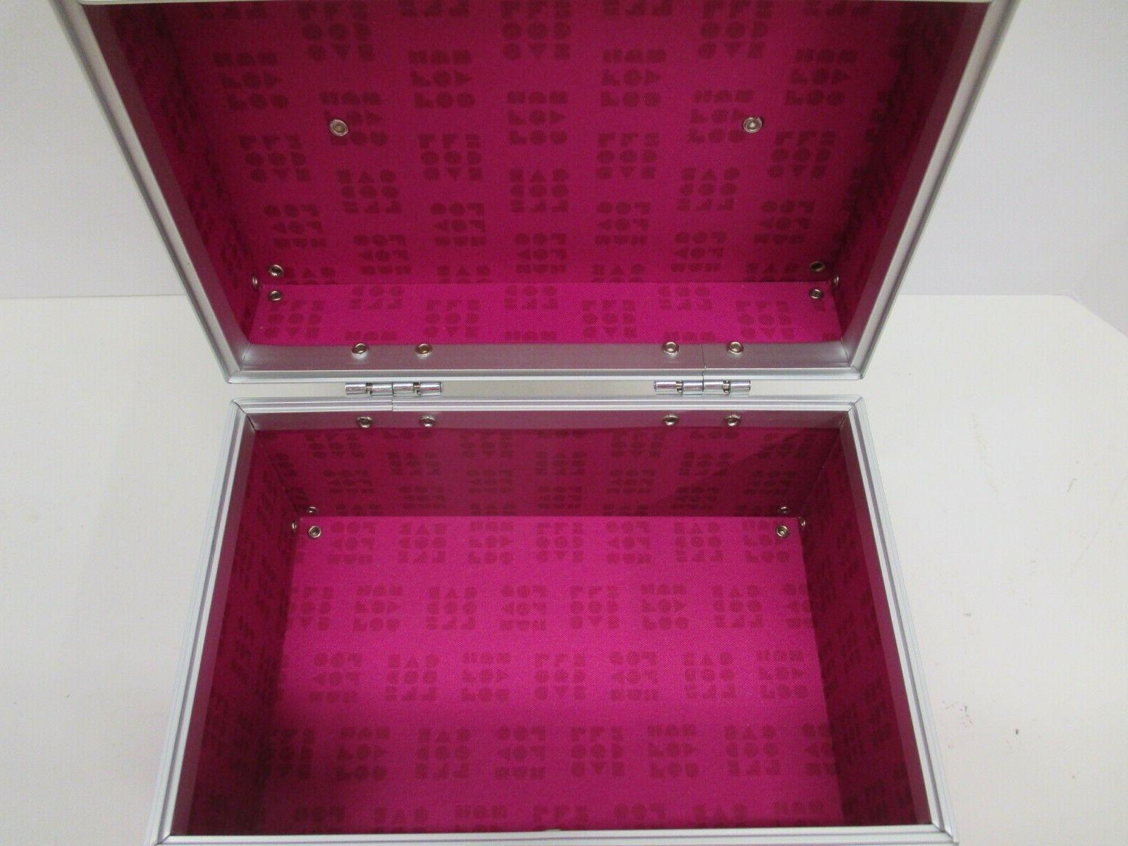 Caboodles Aluminum Case Cosmetic Jewelry Box 7 x4.5